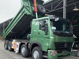 Xe tải Howo 4 chân nóc thấp mẫu cabin A7 2020/16T