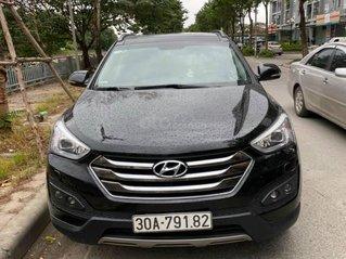 Bán xe Hyundai Santa Fe sx 2015 máy dầu, màu đen, còn mới