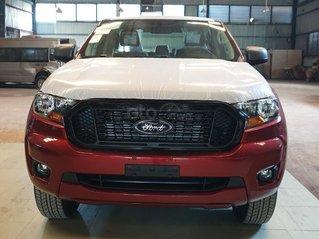 Ford Ranger XLS AT/MT 2021 màu đỏ, bán lấy chỉ tiêu chạy doanh số cuối năm, phi lợi nhuận, 1 chiếc giao ngay tháng 11