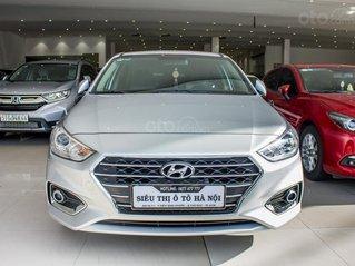 Bán xe Hyundai Accent 1.4AT xe màu bạc, xe đẹp, trả góp chỉ 157 triệu