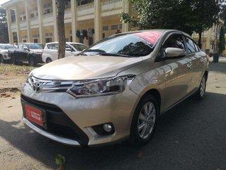 Bán ô tô Toyota Vios 1.5G CVT sản xuất năm 2016, màu vàng số tự động, 450 triệu