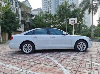 Audi A6 bản 2.0 SX 2013, màu trắng, nội thất kem sang trọng