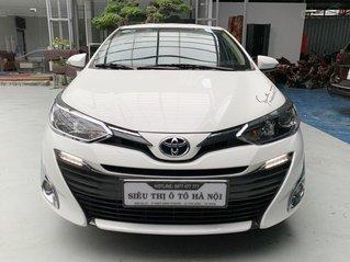 Bán xe Toyota Vios 1.5G 2019 màu trắng, mới đi 22.000km, có trả góp