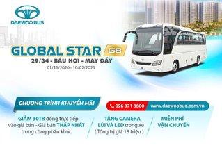 Bán xe khách loại 29-34 chỗ thương hiệu xe Daewoo Hàn Quốc