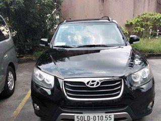 Cần bán xe Hyundai Santa Fe đời 2011, màu đen, nhập khẩu