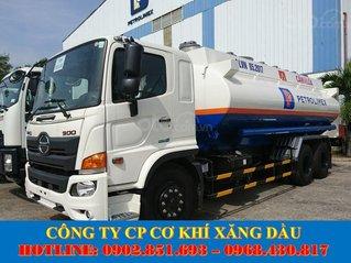 Bán xe bồn Hino 18 khối chở xăng dầu, xe bồn Hino 3 chân chở xăng dầu giá tốt