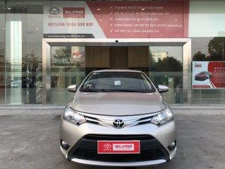 Cần bán xe Toyota Vios 1.5E CVT 2018 nâu vàng GĐ HCM đi 70000km - chính hãng Toyota Sure