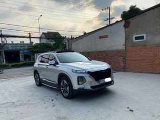 Bán ô tô Hyundai Santa Fe năm sản xuất 2019, màu bạc