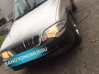 Cần bán lại xe Ssangyong Musso 2002, màu bạc, xe nhập, giá 115tr