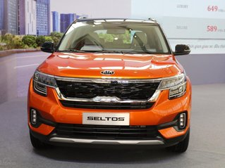 Kia Seltos 1.4 Premium cam - đen, giao xe tháng 1/2021