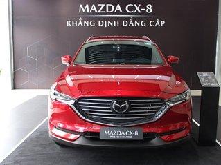 Mazda CX8 ưu đãi lên tới 190 triệu - Hỗ trợ vay đến 80% giá trị xe, chứng minh thu nhập
