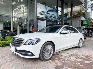 Bán Mercedes S450L 2021 bản Limited, màu trắng siêu lướt 1000km rẻ hơn mua mới tới 600tr