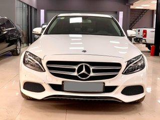 Bán Mercedes Benz C200 Model 2018 màu trắng, nội thất đen sạch sẽ, bao check hãng toàn quốc