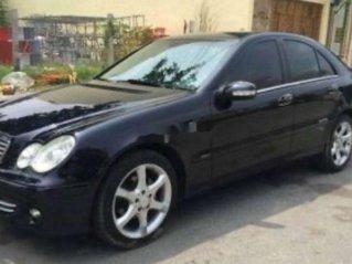 Xe Mercedes C200 sản xuất năm 2005, màu đen, xe nhập