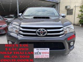 Toyota Hilux 4WD, 2 cầu, số sàn, nhập Thái Lan, ĐK 06/2016