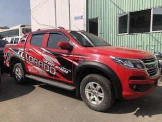 Bán Chevrolet Colorado LT 2.5L MT sản xuất năm 2018, màu đỏ, 520 triệu
