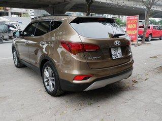 Bán Hyundai Santa Fe năm 2017, màu nâu mới chạy 48000 km giá cạnh tranh