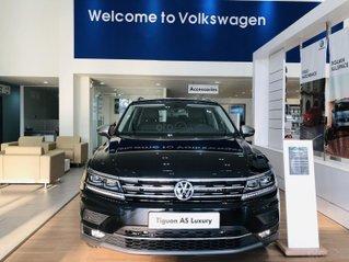 Tiguan Luxury màu đen 2021 mới về - có xe giao ngay cho khách đi tết - khuyến mãi tốt