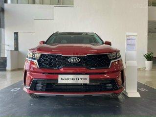 Sorento New 2021 đỏ, đủ màu giao ngay, giảm tiền mặt + nhiều quà tặng, lái thử 24/7