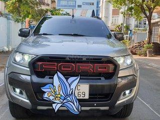Bán Ford Ranger Wildtrak, nhập khẩu 2 cầu, máy dầu 3.2, số tự động đời T12/2016, xám mới đẹp 80%