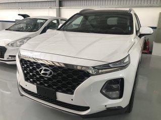 [Hyundai Miền Nam Q12] Santa Fe xăng cao cấp 2020 trắng, giao ngay tại TPHCM