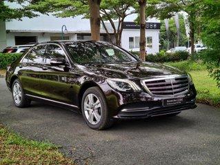 Bán Mercedes-Benz S450L 2020, màu đen ruby, nội thất nâu siêu hiếm