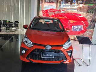 Bán xe Toyota Wigo 1.2AT số tự động màu đỏ cam giao ngay - khuyến mãi lớn