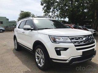 Ford Explorer 2021 màu trắng mới nhất, nhận cọc xe ngay trong tháng 3 để nhận ưu đãi