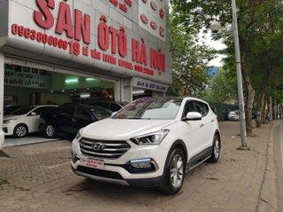 Sàn ô tô Hà Nội bán Hyundai Santafe 2.4AT, bản xăng đặc biệt màu trắng sản xuất năm 2017 hai cầu xe một chủ