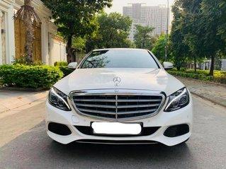 Cần bán Mercedes C250 EX sản xuất 2015 trắng nội thất đen, odo 48270km, biển Hà Nội