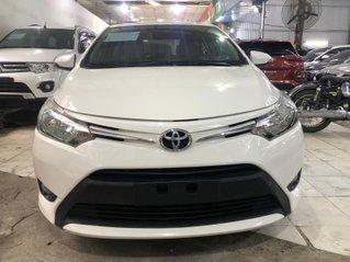 Xe Toyota Vios 1.5E 2017, màu trắng, nội thất kem, cực đẹp