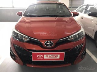Bán Toyota Yaris 1.5G, năm sản xuất 2019, 625tr màu cam rực rỡ, gía tốt có hỗ trợ bank