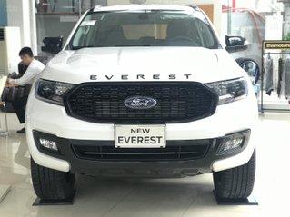 Giao ngay Ford Everest Sport 2021, trắng, giảm tiền mặt trực tiếp, tặng BHTV, gói phụ kiện