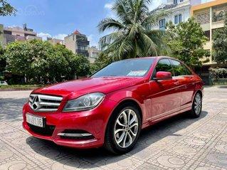 Cần bán Mercedes C200 CGI sản xuất năm 2011, màu đỏ, giá 495tr