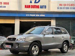 Cần bán Hyundai Santa Fe đời 2003, màu bạc số tự động, 235 triệu