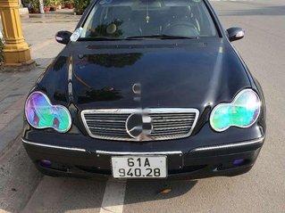 Cần bán xe Mercedes C200 sản xuất năm 2002, màu đen, xe nhập