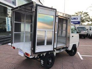 Bán Suzuki Truck 495kg nối dài có cửa hông chất liệu inox, xe mới 100%, giá rẻ nhiều km