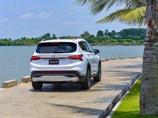 Bán xe Hyundai Santa Fe 2.2 dầu cao cấp năm 2021, màu trắng