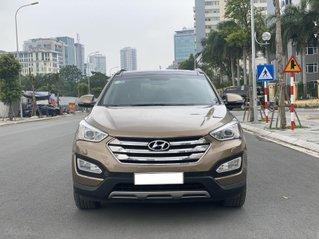 Cần bán lại xe Hyundai Santa Fe 2015, bản đủ, 2 cầu, màu vàng cát