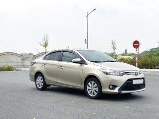 Cần bán lại xe Toyota Vios 1.5E MT đời 2017, màu ghi vàng