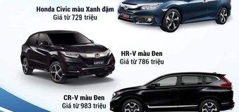 Màu sơn của các dòng xe Honda hợp với mệnh nào?