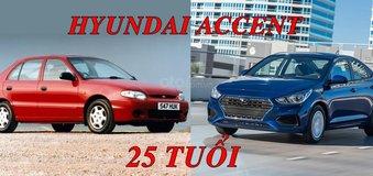 Chúc mừng sinh 25 năm tuổi của Hyundai Accent