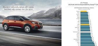 Peugeot lọt Top 1 thương hiệu ô tô đáng tin cậy năm 2019