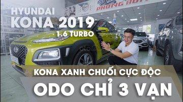 XE NGON GIÁ TỐT | Hyundai Kona 2019 1.6T màu xanh chuối độc đáo chờ chủ đón về giá chỉ 700 triệu.