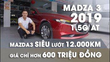 XE NGON GIÁ TỐT | Xe sedan lướt MAZDA 3 với ODO 12.000 km có giá chỉ hơn 600 triệu đồng.
