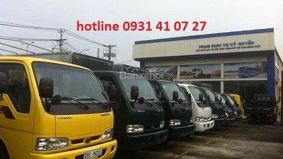Xe tải Kia K165S, mui bạt mở 3 bửng Inox430, đời mới, giá rẻ nhất thị trường