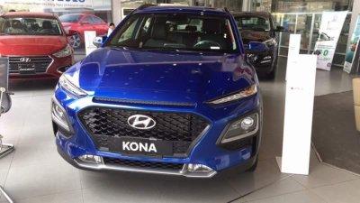 Bán Hyundai Kona sản xuất năm 2019, màu xanh lam, nhập khẩu