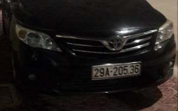 Bán Toyota Corolla altis đời 2011, màu đen