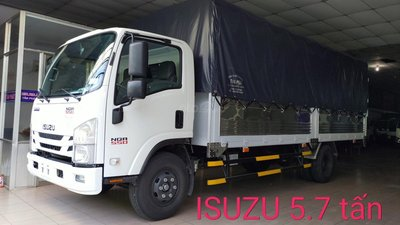 Isuzu 5.7 tấn, thùng dài 6.2m, KM trước bạ, máy lạnh, 200 lít dầu, 2 lốp xe