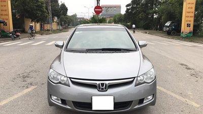Honda Civic 2.0AT cuối 2008, tự động, màu xám ghi, 1 chủ từ mới